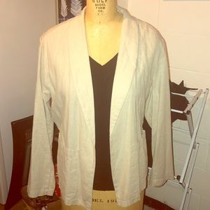 NWT! Linen open front jacket!